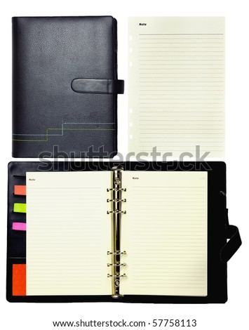 All detail Dairy notebook - stock photo
