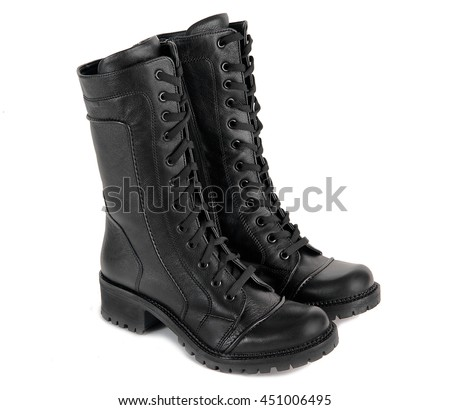 all-weather black shoes isolated on a white background