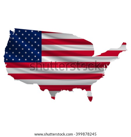 America.Flag map icon