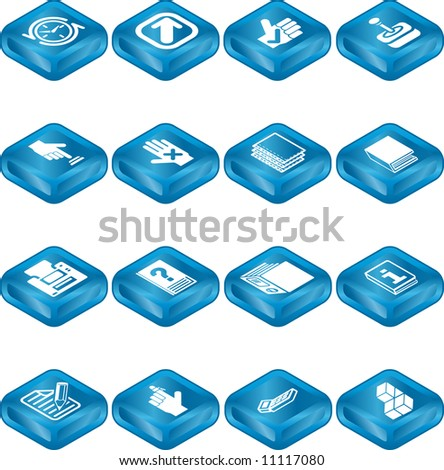 An icon series set for computer applications.