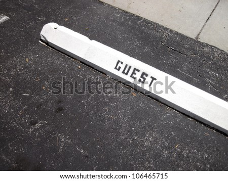 an image of a guest parking place - stock photo