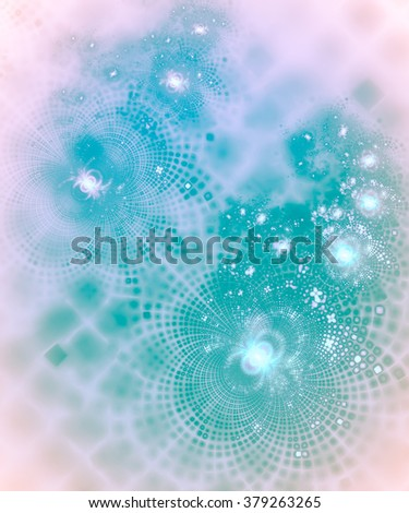An interesting unusual geometric abstract background in pink and cyan tones with a joyous and festive mood - stock photo
