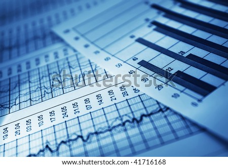 Analyzing document - stock photo