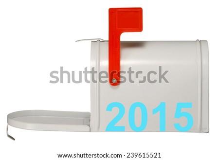 2015 and Mailbox. - stock photo
