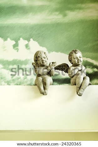 2 angels - stock photo