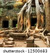 angkor wat complex in cambodia - stock photo