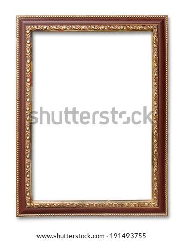 antique frame on the white background - stock photo