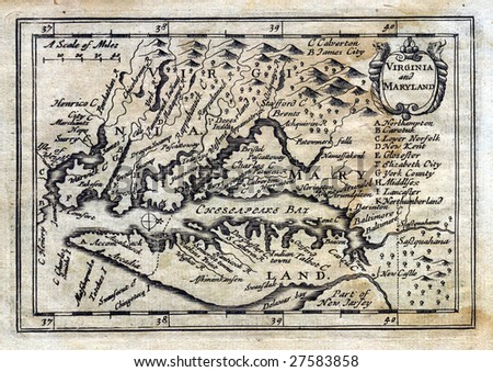 1675 Antique John Speed Map of - stock photo