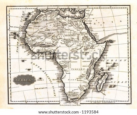 1799 Antique Map of Africa - stock photo