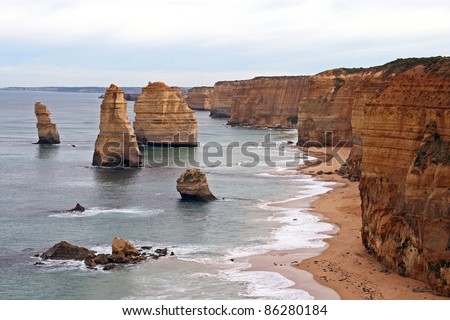 12 Apostles, Great Ocean Road, Australia - stock photo