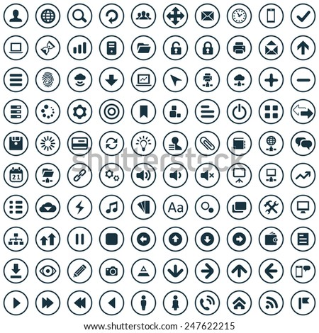 100 app icons big universal set