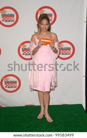 14APR2000: Pop star/actress JENNIFER LOPEZ at Nickelodeon's 13th Annual Kids Choice Awards where she won for Favorite New Music Artist.  Paul Smith/Featureflash - stock photo