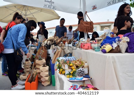 "09 April 2016, Alacati, Izmir - TURKEY: This year, the seventh held ""Alacati Grass Festival"" was held between an intense interest and participation for 7-10 April - stock photo"