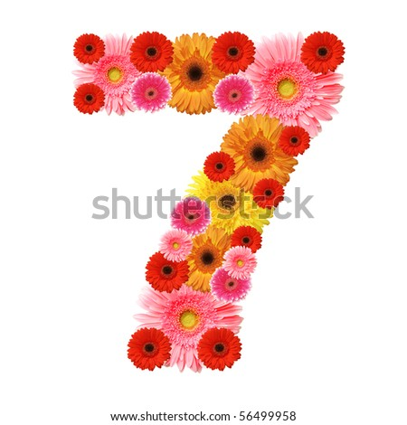 7, arabic numeral - stock photo