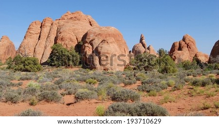 Arches National Park in Utah, USA - stock photo