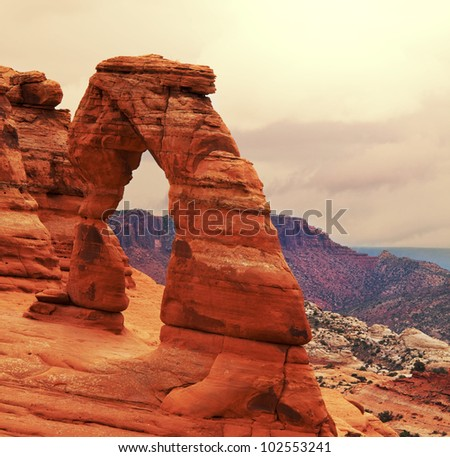 Arches National Park, Utah. - stock photo