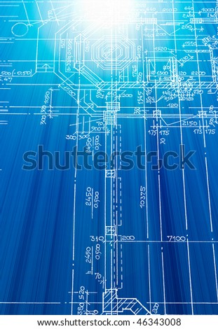 electrical wiring diagram background stock vector 96335309 architectural drawing made by hand on a blue background