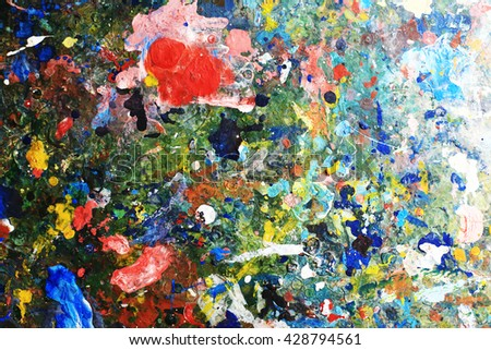 Art on the surface with colorful background. - stock photo