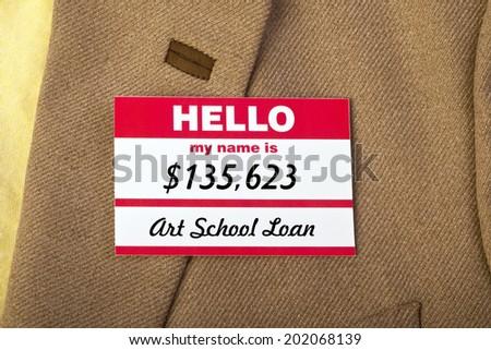 Art School student loan . - stock photo