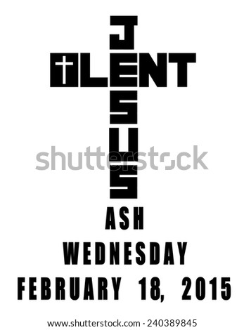 2015 ash wednesday icon - stock photo