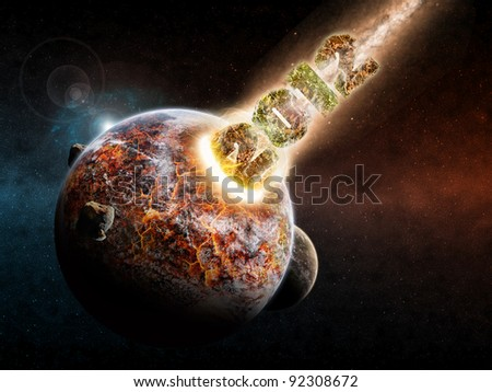 2012 asteroid destroying the planet earth