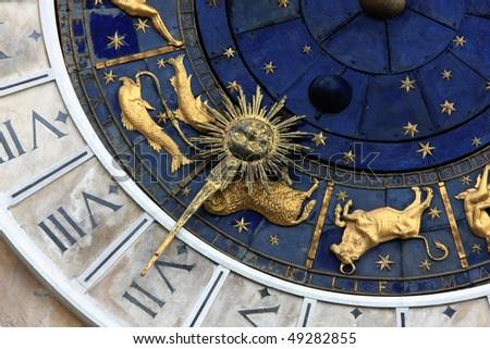 Astronomical clock in Venice, Italy - stock photo