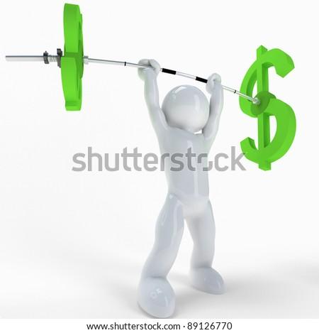 3$ athlete :-) - stock photo
