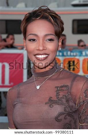 01AUG99: Pop singer MONICA at the 1999 Teen Choice Awards, in Santa Monica.  Paul Smith / Featureflash - stock photo