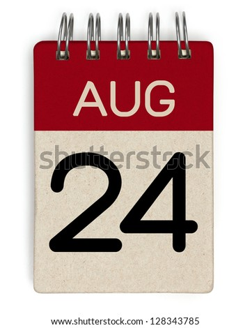 24 august calendar - stock photo