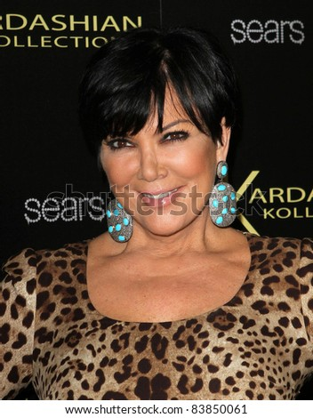 17 August 2011 - Hollywood, California - Kris Jenner. Kardashian Kollection Launch Party Held at The Colony. Photo Credit: Kevan Brooks/AdMedia - stock photo