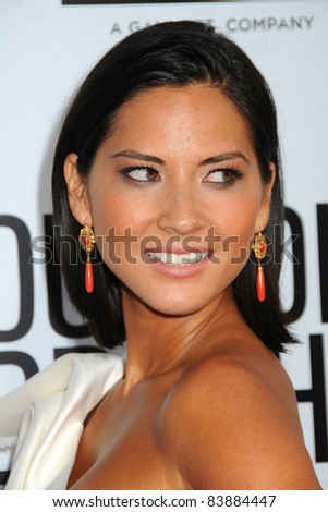 "16 August 2011 - Hollywood, California - Olivia Munn. ""Our Idiot Brother"" Los Angeles Premiere held at Arclight Cinemas. Photo Credit: Byron Purvis/AdMedia - stock photo"