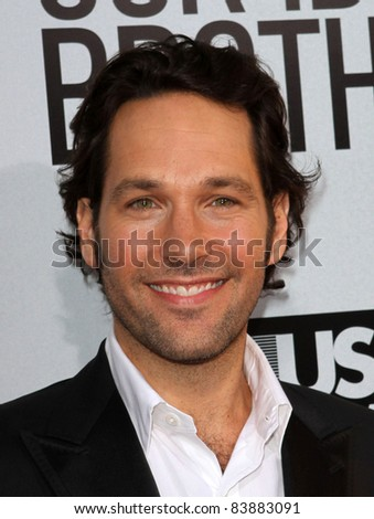 "16 August 2011 - Hollywood, California - Paul Rudd. ""Our Idiot Brother"" - Los Angeles Premiere Held at The Cinerama Dome. Photo Credit: Kevan Brooks/AdMedia - stock photo"
