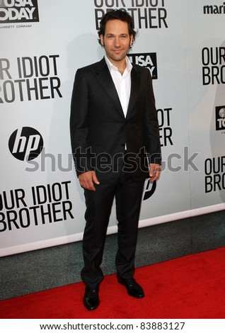"""16 August 2011 - Hollywood, California - Paul Rudd. """"Our Idiot Brother"""" - Los Angeles Premiere Held at The Cinerama Dome. Photo Credit: Kevan Brooks/AdMedia - stock photo"""