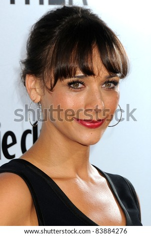 "16 August 2011 - Hollywood, California - Rashida Jones. ""Our Idiot Brother"" Los Angeles Premiere held at Arclight Cinemas. Photo Credit: Byron Purvis/AdMedia - stock photo"
