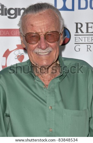 17 August 2011 - Los Angeles, California -  Stan Lee attends the First Annual Variety Charity Texas Hold 'Em Tournament at Paramount Studios.  Photo Credit: Emiley Schweich/AdMedia - stock photo