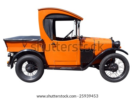 1929 Austin 7 Truck isolated with clipping path - stock photo