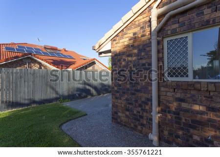 Australia, rooftop solar panels - stock photo