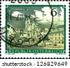"AUSTRIA - CIRCA 1984: A stamp printed in Austria shows  Rein Abbey (Rein-Hohenfurth), Styria,  from the series ""Monasteries and Abbeys in Austria"", circa 1984 - stock photo"
