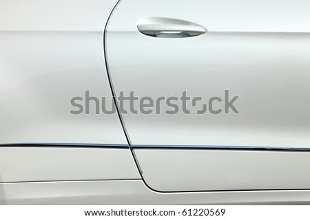 auto bodywork passenger door - stock photo