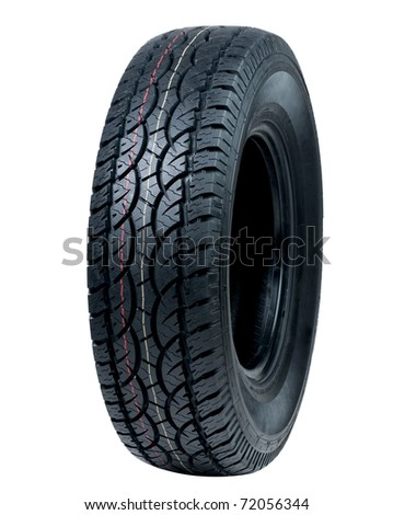 Auto tyre - stock photo