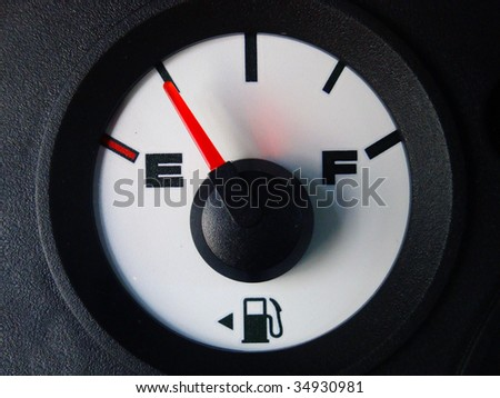 automotive gas guage - stock photo
