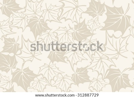 Autumn seamless pattern with leaves of maple. raster version - stock photo