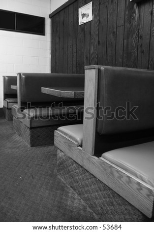 ( B&W ) booths - stock photo