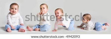 Baby history - stock photo