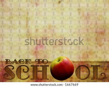"""Back to School"" background, retro style - stock photo"
