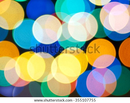 background abstraction of colored circles