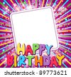 "background with a congratulatory card and says ""Happy Birthday"" (JPEG version) - stock vector"