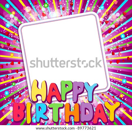 "background with a congratulatory card and says ""Happy Birthday"" (JPEG version) - stock photo"