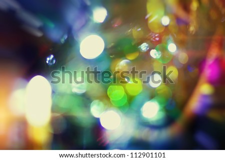 background with bokeh lights - stock photo
