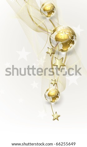 background with golden globes - stock photo